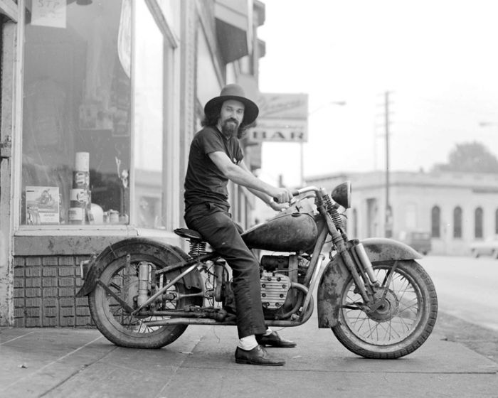 In front of his bike shop -Detroit-1966 - Flash Productions, LLC